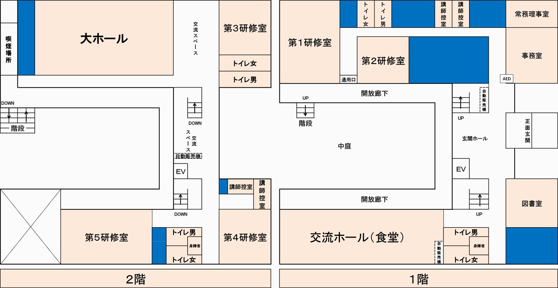 大分県自治人材育成センター平面図
